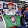 Photo - Takuma Sato, of Japan, celebrates after qualifying for the pole position for the IndyCar Firestone Grand Prix of St. Petersburg auto race Saturday, March 29, 2014, in St. Petersburg, Fla. The race starts Sunday afternoon. (AP Photo/Chris O'Meara)