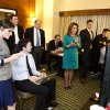 Rep. Michele Bachmann claps as she watches election results at the Republican Party of Minnesota Election Night Party, Tuesday, Nov. 6, 2012, at the Hilton Minneapolis Bloomington in Bloomington, Minn. (AP Photo/The Star Tribune, Glen Stubbe) MANDATORY CREDIT; ST. PAUL PIONEER PRESS OUT; MAGS OUT; TWIN CITIES TV OUT