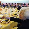 Photo - U.S. Federal Reserve Board Chair Janet Yellen toasts her Chinese counterparts during a working lunch at the U.S.-China Strategic and Economic Dialogue, at the Diaoyutai State Guesthouse in Beijing Wednesday, July 9, 2014. (AP Photo/Jim Bourg, Pool)