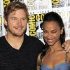 Photo - Chris Pratt, left, and Zoe Saldana pose at the panel for their film Guardians of the Galaxy on Day 4 of Comic-Con International, Saturday, July 20, 2013, in San Diego. (Photo by Chris Pizzello/Invision/AP)