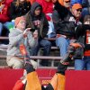 Pistol Pete does a headstand for the fans during the college football game between the Oklahoma State University Cowboys (OSU) and the Iowa State University Cyclones (ISU) at Jack Trice Stadium in Ames, Iowa, on Saturday, Oct. 26, 2013. Photo by Chris Landsberger, The Oklahoman