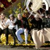 "Bart Conner, Nadia Comaneci, Barry Switzer, Patti Page and James Garner (from left to right) wave to the crowd from aboard the ""Our Good Nature"" float during the Tournament of Roses Parade in Pasadena, Ca., on Monday, Jan. 1, 2007. By John Clanton, The Oklahoman"