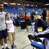 Action prior to the OKC Thunder-New Orleans Pelicans preseason basketball game, at the BOK Center, on Thursday, Oct. 17, 2013. CORY YOUNG/Tulsa World ORG XMIT: DTI1310171855402453