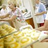 Janice VanBrunt (left) joins other volunteers as they prepare kolaches at Oklahoma Czech Hall in Yukon, Oklahoma on Tuesday, July 12, 2011. Volunteers will prepare more than 2,000 kolaches for the Czech Festival on Oct. 1 in Yukon. Photo by John Clanton, The Oklahoman