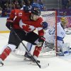 Photo - Canada forward Rick Nash looks to center the puck against Finland in the third period of a men's ice hockey game at the 2014 Winter Olympics, Sunday, Feb. 16, 2014, in Sochi, Russia. (AP Photo/Mark Humphrey)