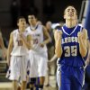 Glencoe\'s Ty Lazenby celebrates following the Class A boys state championship between Glencoe and Weleetka at the State Fair Arena., Saturday, March 2, 2013. Photo by Sarah Phipps, The Oklahoman