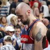 Washington\'s Marcin Gortat (4) walks off the court after the Wizards\' overtime lost to the Thunder during the NBA game between the Oklahoma City Thunder and the Washington Wizards at the Chesapeake Energy Arena, Sunday, Nov. 10, 2013. Photo by Sarah Phipps, The Oklahoman