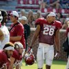 Oklahoma Sooners\'s Alex Ross (28) waits to play during the University of Oklahoma Sooners (OU) practice and Student Day at Gaylord Family-Oklahoma Memorial Stadium in Norman, Okla., on Thursday, Aug. 21, 2014. Photo by Steve Sisney, The Oklahoman