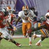 Photo - Clemson wide receiver Sammy Watkins (2) runs between Ohio State defenders during the first half of the Orange Bowl NCAA college football game, Friday, Jan. 3, 2014, in Miami Gardens, Fla. (AP Photo/Wilfredo Lee)