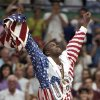 Photo -   FILE - In this Aug. 8, 1992, file photo, USA's Earvin
