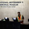 A technician readies computers at the National Sept. 11 Memorial Museum, Wednesday, May 14, 2014, in New York. The museum is a monument to how the Sept. 11 terror attacks shaped history, from its heart-wrenching artifacts to the underground space that houses them amid the remnants of the fallen twin towers\' foundations. It also reflects the complexity of crafting a public understanding of the terrorist attacks and reconceiving ground zero. (AP Photo)