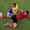 Photo - Brazil's Neymar, left, and Mexico's Francisco Rodriguez challenge for the ball during the group A World Cup soccer match between Brazil and Mexico at the Arena Castelao in Fortaleza, Brazil, Tuesday, June 17, 2014.  (AP Photo/Francois Xavier Marit, pool)
