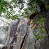 Visitors to Robbers Cave State Park can rappel down its rock faces. PHOTO PROVIDED.