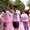 Photo - UCO students, volunteers and running enthusiasts gathered Tuesday at Plunkett Park to participate in a 5k color run during homecoming week. <strong>Aliki Dyer</strong>