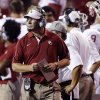 Oklahoma defensive coordinator Mike Stoops didn\'t fare well the last time he matched wits with his former boss. On Saturday, Stoops will oppose Kansas State coach and play-caller Bill Snyder for the first time since the 2003 Big 12 championship game. Photo by Chris Landsberger, The Oklahoman