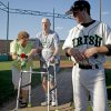 Photo - TOM MURPHY / ANNE MURPHY / CANCER: Bishop McGuinness High School baseball player Andrew Murphy walks beside his parents, Tom and Anne, during senior night activities in Oklahoma City on Thursday, April 29, 2010.  Photo by Bryan Terry, The Oklahoman ORG XMIT: KOD