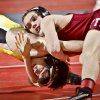 Tuttle\'s Dakota Head, controls Derick Shrum of Jay in the Class 4A 119 pound match during the 90th annual Oklahoma High School state wrestling tournament on Friday, Feb. 25, 2011, in Oklahoma City, Okla. Photo by Chris Landsberger, The Oklahoman