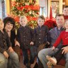 Rick and Jennifer Payne's quadruplets turned 5 this month. Shown from left are Preston, 5, Jennifer, Carson, 5, Griffin, 5, Rick, Parker, 8, and Claire, 5. Photo by David McDaniel, The Oklahoman