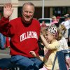 Photo - Barry Switzer rides in a Norman Public Library sponsored float in the Norman 89er Day parade in downtown Norman, Oklahoma on Saturday, April 19, 2008.  BY STEVE SISNEY, THE OKLAHOMAN