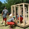 Members of the 2007 University of Oklahoma Football team frame the Sooner Playhouse. Community Photo By: Erin Barnhart Submitted By: Erin, Norman