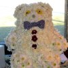 A teddy bear created out of flowers was part of the decorations. (Photo by Helen Ford Wallace).