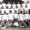 In this 1936 Hollis team photo, Dean Wild is on the far right, and Darrell Royal, in sixth grade, is on the ground in front, on the right.