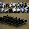 Western Heights High School graduates sit near empty chairs during the school\'s graduation ceremonies at the Cox Convention Center in Oklahoma City, Okla., on Sunday, May 24, 2009. The empty chairs symbolize students who dropped out of this year\'s class. Photo by John Clanton, The Oklahoman