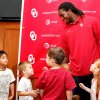 Photo - OU defensive back Quinton Carter was named to the AFCA Good Works team on Tuesday. Carter was surprised with the award by a class of children Carter