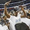 North Carolina\'s Mike Copeland celebrates after the 72-60 win over Oklahoma in the Elite Eight game of NCAA Men\'s Basketball Regional between the University of North Carolina and the University of Oklahoma at the FedEx Forum on Sunday, March 29, 2009, in Memphis, Tenn. PHOTO BY CHRIS LANDSBERGER, THE OKLAHOMAN