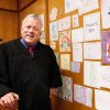 ART: Judge Richard Kirby next to a wall near his bench where he displays some of the personalized notes and colorful drawings in his courtroom at the Juvenile Justice Center in Oklahoma City on Thursday, Jan. 12, 2012, The artwork was given to Kirby by children who have appeared in his courtroom. Kirby is an associate district judge for the Seventh Judicial District in the State of Oklahoma. Photo by Jim Beckel, The Oklahoman
