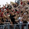 Yukon fans cheer during a high school football game against Mustang in Yukon, Okla., Friday, August 31, 2012. Photo by Bryan Terry, The Oklahoman