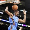 Kevin Durant scored 30 points, but fouled out, against the Lakers. AP Photo