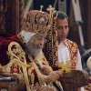 Pope Tawadros II, the 118th pope of the Coptic Church of Egypt, leads a midnight Mass on the eve of Egyptian Orthodox Christmas at St. Mark\'s Cathedral in Cairo, Egypt, late Sunday, Jan. 6, 2013. (AP Photo/Amr Nabil)