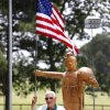 Ken McDaniel, a 78 year-old Air Force veteran, has a few hobbies including chainsaw art. One example is a sculpture based on a photo taken of him in Vietnam. Jim Beckel - THE OKLAHOMAN