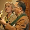 Sue Akiska and Wesley Matsui with the Ethical Culture Society of Bergen County sing