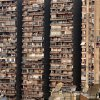 Balconies and satellites are seen on a complex of buildings in Cairo, Sunday, Dec. 16, 2012. (AP Photo/Hassan Ammar)