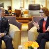 Photo - President of Myanmar Thein Sein, left, meets with Australian Prime Minister Julia Gillard at Parliament House in Canberra, Australia, Monday, March 18, 2013. Thein is on a three day visit to Australia.  (AP Photo/Alan Porritt, Pool)