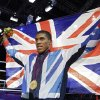 Britain\'s Anthony Joshua celebrates after wining the gold medal for the men\'s super heavyweight over 91-kg boxing at the 2012 Summer Olympics, Sunday, Aug. 12, 2012, in London. (AP Photo/Patrick Semansky)