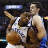 Memphis\' Tony Allen (9) tries to get past Oklahoma City\'s Nick Collison (4) during Game 3 in the second round of the NBA basketball playoffs between the Oklahoma City Thunder and Memphis Grizzles at the FedExForum in Memphis, Tenn., Saturday, May 11, 2013. Memphis won, 87-81. Photo by Nate Billings, The Oklahoman