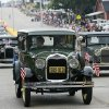 The Model A club drives during the Czech Festival parade in Yukon, Okla., on Saturday, Oct. 6, 2007. By James Plumlee, The Oklahoman.