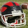 Photo - Football helmet. Photo by Jim Beckel, The Oklahoman Archive