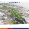 Photo - This view shows consultants' recommended design of the western section of the future Oklahoma City Boulevard, shown here in a drawing looking west. The boulevard would be raised over Western Avenue, but at-grade by Reno Avenue to the east.  PROVIDED - City of Oklahoma City