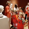 Jeanne Jackson, museum docent, gives a tour of the