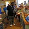 James Harden of the Oklahoma City Thunder greets fans at the new Raising Cane\'s in Edmond, Thursday, September 27, 2012. Photo by Bryan Terry, The Oklahoman