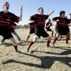 Edmond Storm team members perform the haka before the Edmond High School Rugby Club match against the Tulsa Brethren at Mitch Field in Edmond, Okla., February 9, 2008. BY MATT STRASEN, THE OKLAHOMAN