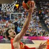 Spain\'s Pau Gasol shoots to score against the United States during the men\'s gold medal basketball game at the 2012 Summer Olympics in London on Sunday, Aug. 12, 2012. (AP Photo/Mark Ralston, Pool)