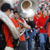 Sousaphone players from the OSU Cowboy Marching Band perform during Walkaround at Oklahoma State University\'s homecoming in Stillwater, Okla., Friday, Oct. 19, 2012. Photo by Nate Billings, The Oklahoman