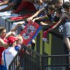 Photo - Bayern Munich soccer players sign autographs after practice at Providence Park in Portland, Ore., Tuesday, Aug. 5, 2014. MLS players will face Bayern Munich in the All-Star game on Wednesday night in Portland. (AP Photo/The Oregonian, Randy l. Rasmussen)  MAGS OUT; TV OUT; LOCAL TELEVISION OUT; LOCAL INTERNET OUT; THE MERCURY OUT; WILLAMETTE WEEK OUT; PAMPLIN MEDIA GROUP OUT