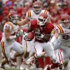 Oklahoma\'s Roy Finch (22) runs the ball during a college football game between the University of Oklahoma Sooners (OU) and the Iowa State University Cyclones (ISU) at Gaylord Family-Oklahoma Memorial Stadium in Norman, Okla., Saturday, Nov. 26, 2011. Photo by Bryan Terry, The Oklahoman