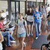 Photo - Students fill the hallway Aug. 18 while changing classrooms at Northern Oklahoma College's campus in Stillwater .  Photos by Paul B. Southerland, The Oklahoman  PAUL B. SOUTHERLAND -  PAUL B. SOUTHERLAND
